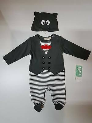 Baby Romper Jumpsuit Bodysuit Clothes Outfits Boy Size 000, 00, 0 TV51 Grey