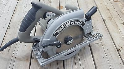 PORTER CABLE corded circular saw model 325mag 7-1/4 with blade HD 15 amp light