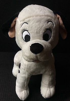 """DISNEY STORE Authentic Original 101 DALMATIONS Puppy 13"""" LUCKY Soft Plush Toy"""