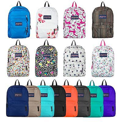JANSPORT SUPERBREAK BACKPACK 100% AUTHENTIC SCHOOL BAG, 15 Colors Black Blue