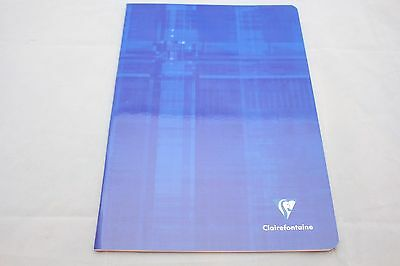 """Clairefontaine Staplebound Notebook  8"""" X 11"""" Lined Blue"""
