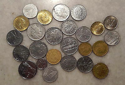Lot Of 25 Mixed Italy Coins - #449