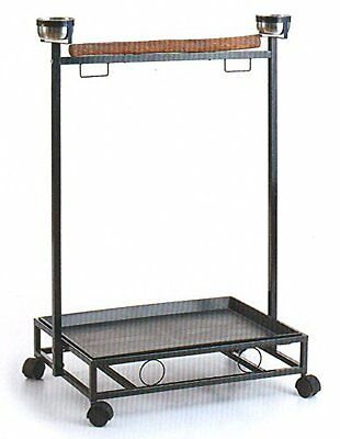 NEW Large Parrot Bird Wrought Iron Play Stand Play Gym Play Ground Rolling Stand