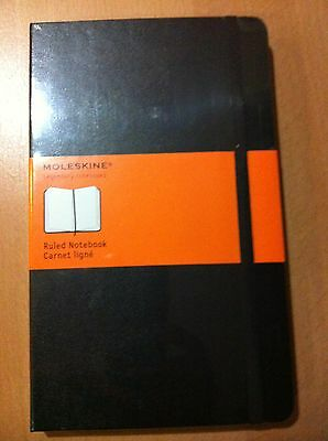 Moleskine Black Hard Cover Large Ruled Journal  (5 X 8.25)