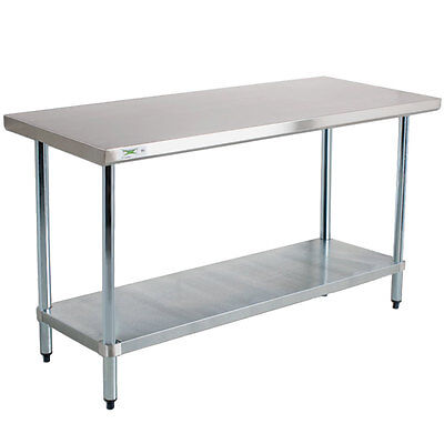"NEW! Stainless Steel Commercial Kitchen Work Prep Equipment Table - 30"" x 60"""