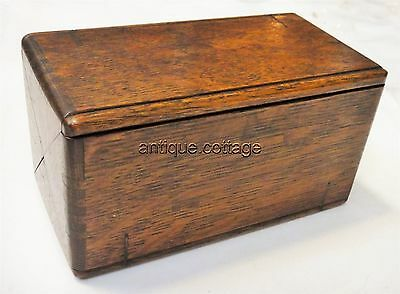 1889 pat. antique FOLDING WOOD SINGER SEWING BOX ~w/ACCESSORIES shown
