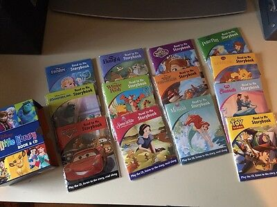 Disney Little Library Book And CD Set Brand New