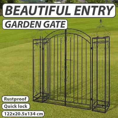 New Ornamental Driveway Gate Wrought Iron Front Door Garden Entry Fencing Home