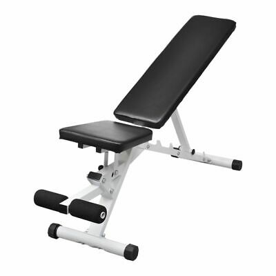 vidaXL Adjustable Weight Bench Flat Incline Decline Gym Exercise Fitness Situp