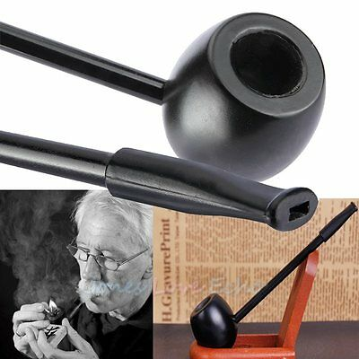 New Ebony Solid Wood Wooden Smoking Pipe Tobacco Cigarettes Cigar Pipes Gift
