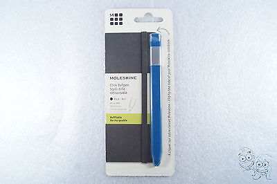New Moleskine Classic Click Ball Pen, Royal Blue, Large Point (1.0 MM) Black Ink