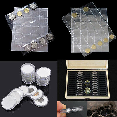 Wood Coins Display Storage Box Case for Slab Certified Coins With 60 Capsules