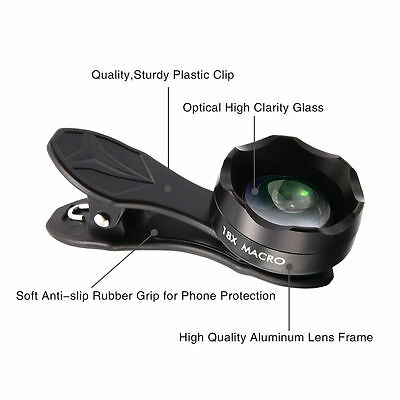 APEXEL 18X Zoom HD Professional Clip-on Macro Phone Lens For Smart Mobile
