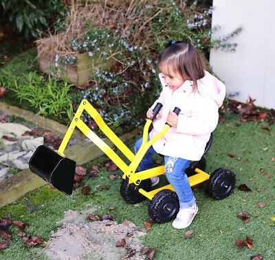 New Kids Steel Ride-On Excavator metal digger on wheels sand digger