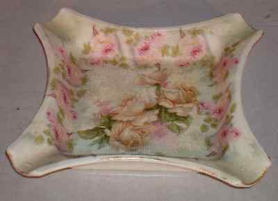 Antique Royal Bayreuth Rose Tapestry CIGAR ASHTRAY 1880s+