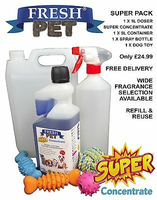FRESH PET SUPER PACK 1L Super Concentrate Doser / 1L Spray / 5L Container & Toy