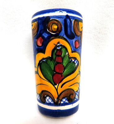 TALAVERA Pottery Mexico Hand Painted Tequila Shooter Shot Glass ~ NEW MINT
