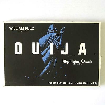 Vtg 1960s Parker Brothers William Fuld Ouija Board with Box Mystifying Oracle