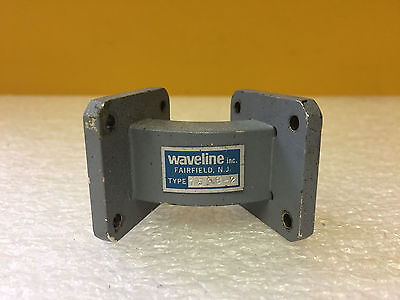 Waveline 7538-2 (WR-75) 10 to 15 GHz, Cover to Cover, 45° Waveguide E-Plane Bend