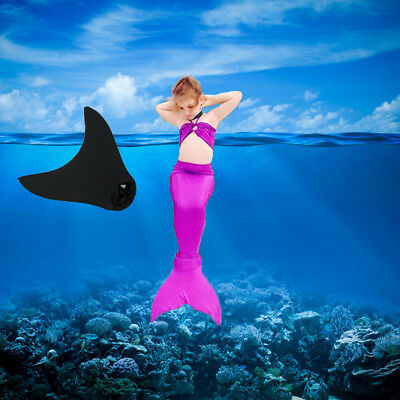 Kids Girls Mermaid Tails Swimsuit Swimming Diving Monofin Swimmable Fin Flippers