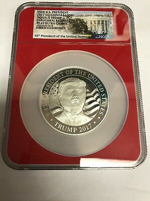45th President 2017 Donald Trump Inaugural Releases PF69 Ultra Cameo NGC 1oz