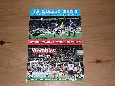 1978 F.A.CHARITY SHIELD  IPSWICH TOWN v NOTTINGHAM FOREST  12/08/1978