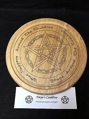 Handcrafted Wooden Cauldron Kitchen Board ~ Pagan ~ Wicca