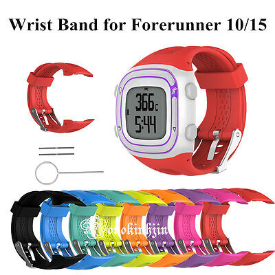 Silicone Bracelet Strap Watch Band For Garmin Forerunner 10/15 Watch Small/Large