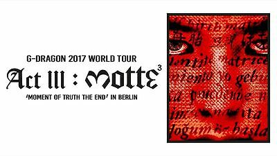 Front of stage G-Dragon Motte World tour  2017 Berlin Germany