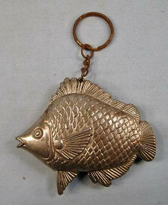 Tropical Exotic Fish Metal Cigarette Lighter On A Keychain (O) AS IS CONDITION