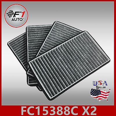 CARBON X2PCS PREMIUM CABIN AIR FILTER for 1999-02 SILVERADO /& SIERRA FC15388C