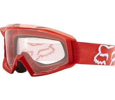 Fox Main Goggle Youth Red Motocross Dirt Bike Quad Off Road MX MTB ATV SXS UTV