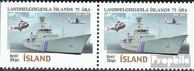 Iceland 973Dl/Dr horizontal Couple mint never hinged mnh 2001 Küstenwache