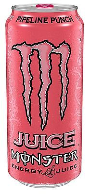 Juice Monster Energy Pipeline Punch 16 Ounce (Pack of 24) NEW