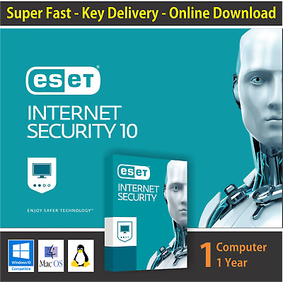ESET Internet Security 2017, 1 PC -1 Year -Windows & Mac - Key Online Delivery