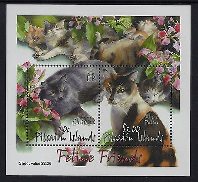Pitcairn Islands 2002 Cats MS MNH