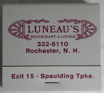 Vintage Luneau's Restaurant New Hampshire Unused Matchbook          (Inv13820)