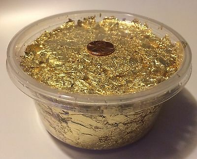 New Container Of Gold Leaf Flakes Scrap Gold Leaf Buy 3 Or More Get 2 Grams Free
