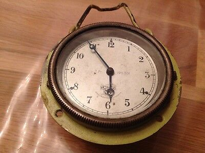 Antique Smiths Car Clock Military Style Hanging Not Running For restoration