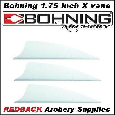 25 Bohning 1.75 inch X Vane white for arrows archery hunting