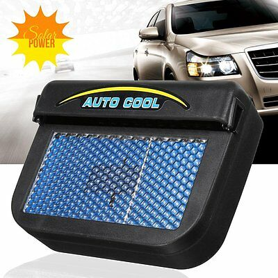 Solar Powered Car Window Windshield Auto Air Vent Cooling Fan Cooler Radiator
