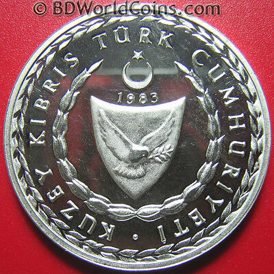 Northern Cyprus 1974-1984 Silver Proof Coin Medal Freedom Festival Rauf Denktas