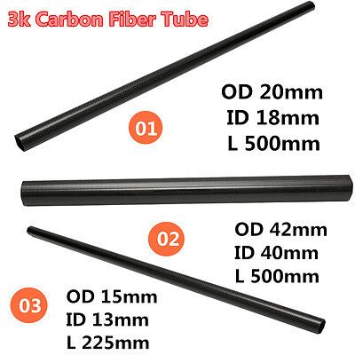 3 Type 3K Carbone Fibre Tube Tige Rouleau Twill Weave Multicopter Quadcopter DIY