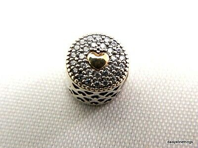 New/tags Authentic Pandora Charm Essence 2-Tone Affection #796085Cz Retired