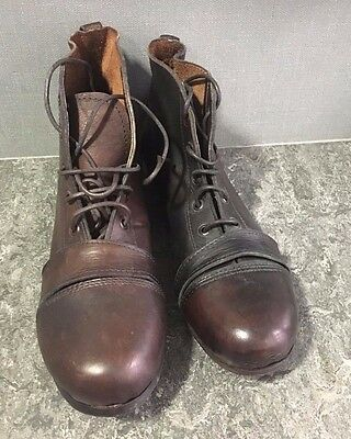 Antique/Vintage, Handmade, Leather Rugby/Football Boots, Unused