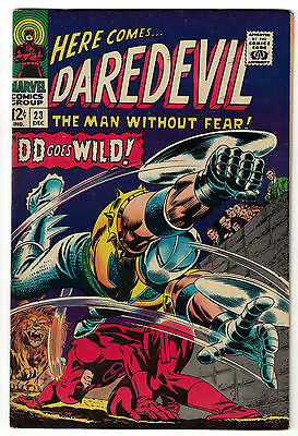 Marvel Comics DAREDEVIL Issue 23 The Man Without Fear! DD Goes Wild! VF-