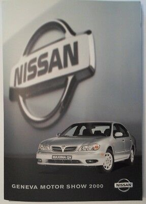 NISSAN orig Press Pack / Media Kit from Geneva 2000 - Patrol Maxima QX Almera