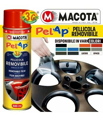 Vernice Removibile Macota Pellicola Spray Wrapping Tuning Cerchi Auto Moto 500Ml