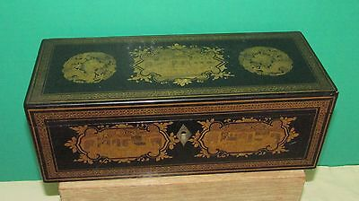 Fine  Antique Chinese Export  Box Lacquer w Gold Decoration   Located New Jersey