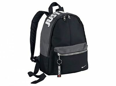 Nike Just Do It Black Backpack Rucksack Gym School PE Bag Kids Junior Child